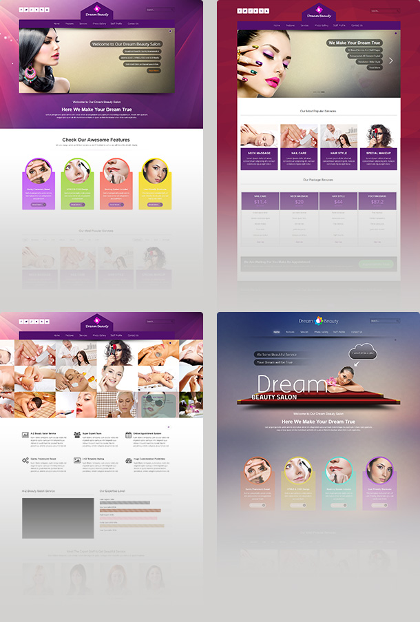 dream temaplate mockup - Dream - Beauty Salon Responsive Joomla Template